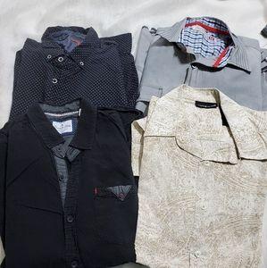 Bundle of 4 long sleeves Shirts